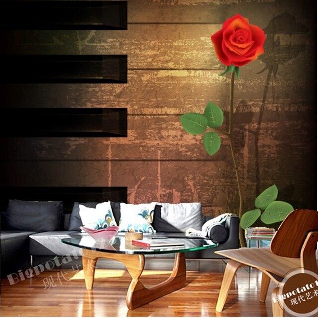 Benutzerdefinierte 3D retro tapete. Klavier und rosen für die ...