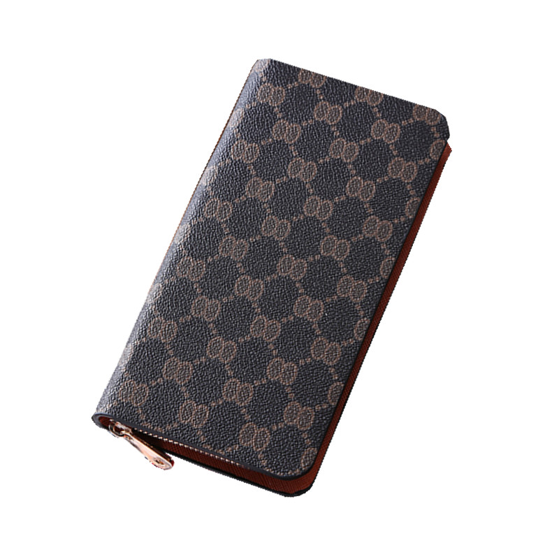 Men s Vintage Long Wallet PU Leather Zipper Coin Purse Passport Cover Card Holder Wholesale Bulk