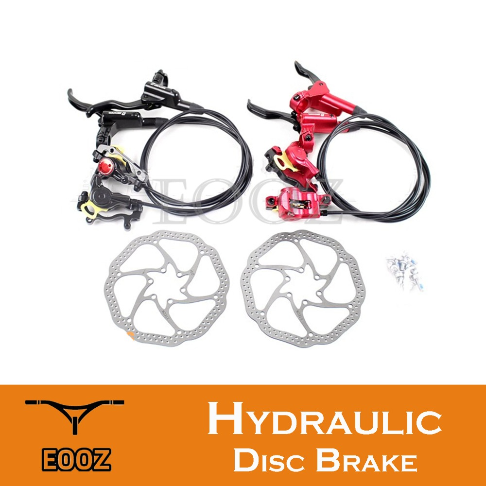 New Taiwan ZOOM MTB Mountain Bike Hydraulic disc brake set Caliper Lever Hose 160mm Rotors Pads Upgraded HB-870 <font><b>HB875</b></font> image