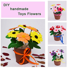 SST 1pcs Handicrafts DIY nonwoven artificial flower pot children hand toys Early childhood educational toys handmade