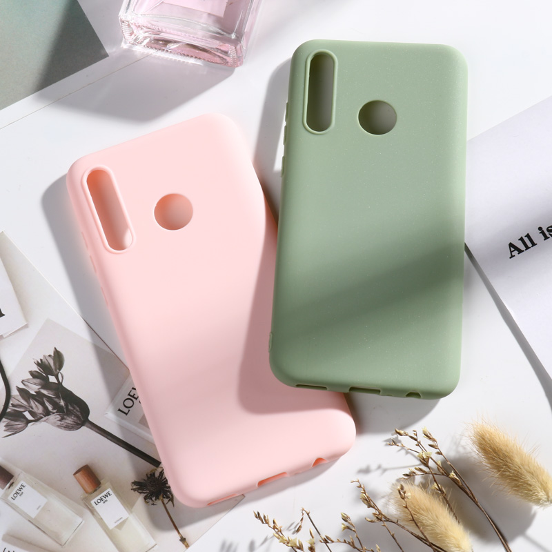 Huawei P Smart 2019 Case Matte Candy Soft TPU Back Cases For Huawei P Smart 2019 Case Silicone Cover POT LX1 POT LX3 Funda Capa in Fitted Cases from Cellphones Telecommunications