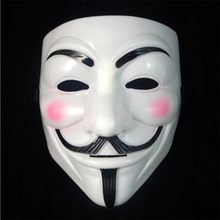 1PCS Hot Selling Party Masks V for Vendetta Mask Anonymous Guy Fawkes Fancy Dress Adult Costume Accessory Party Cosplay Masks(China)