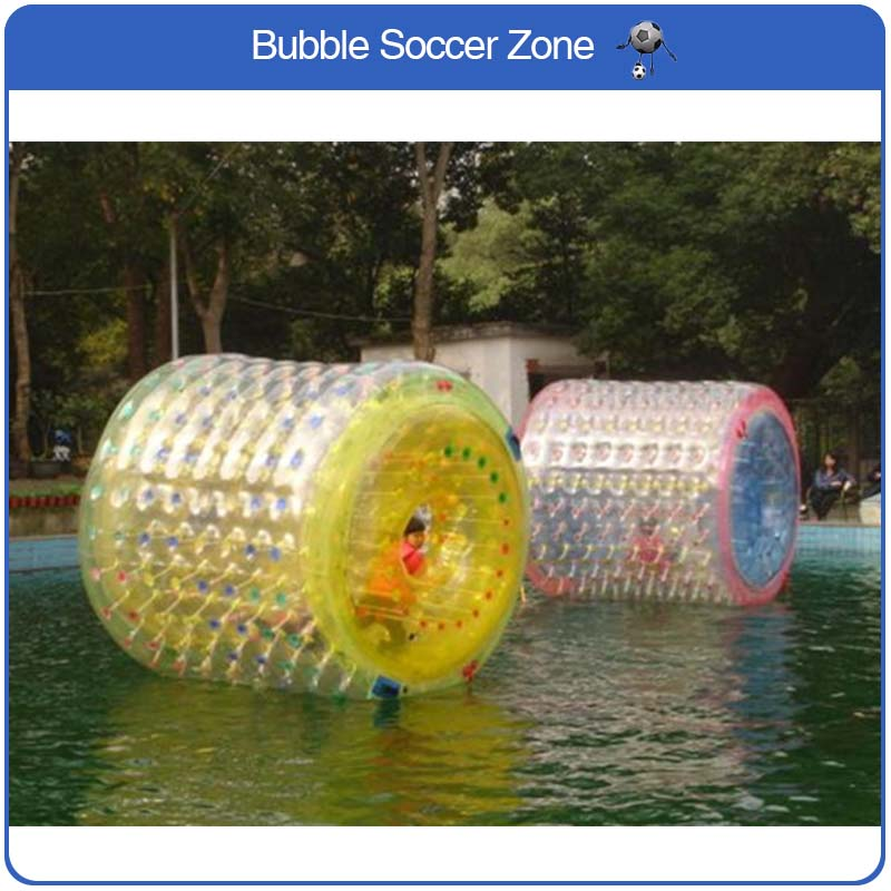 цены Free Shipping 2.4*2.2m Water Roller Inflatable Rollers Human Water Zorb ball Water Roller Ball Water Walking Ball