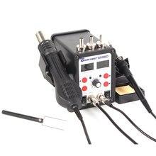 2 em 1 8586D 750 w Digital SMD Bga Solda Estação Hot Air Blower Heat Gun e095d9d7d71a