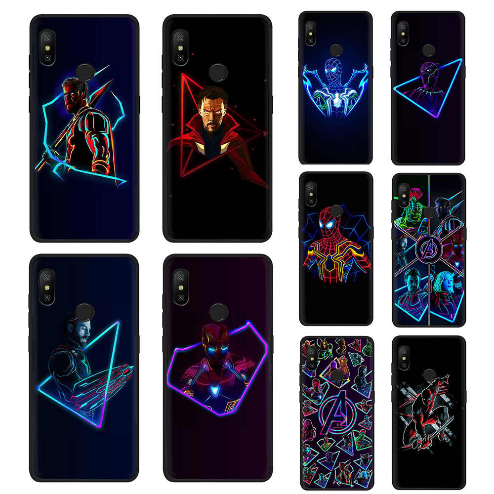 Marvel Heroes Avengers League phone case for Xiaomi 6 8 9se A1 A2 F1 Max 3 Redmi 4A 4X 5A 6A 6Pro 7 GO 7A K20 9T A3Pro CC9e 8A