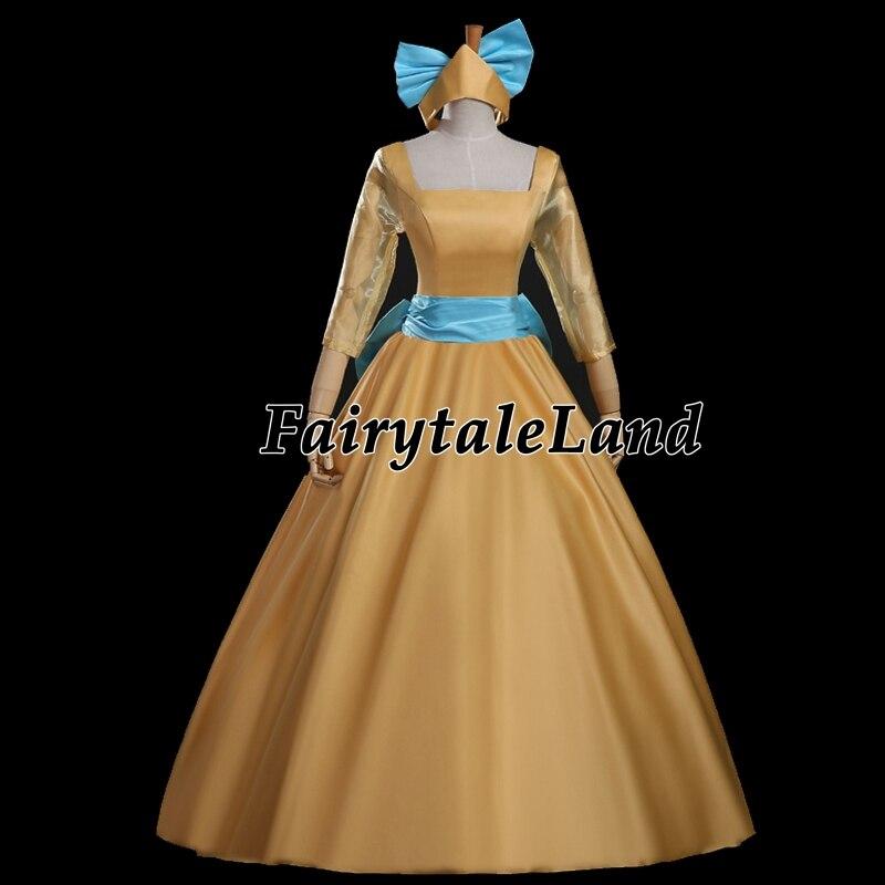 69ff55b9d99 US $90.95 15% di SCONTO|Cartoon movie Anastasia cosplay costume di fantasia  costumi di Halloween per le donne Principessa Anastasia vestito su misura  ...
