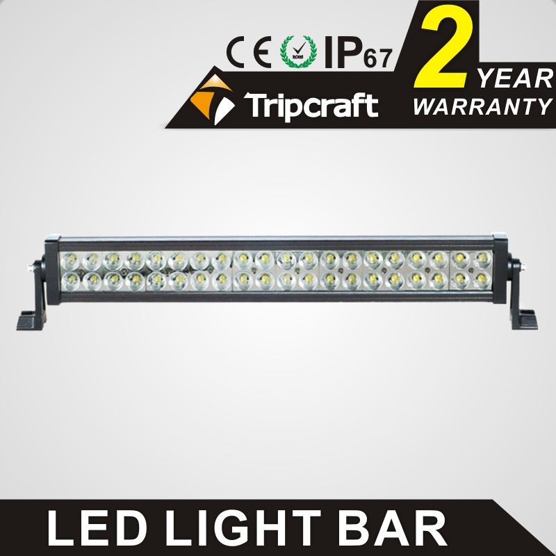 TRIPCRAFT 120W LED WORK LIGHT BAR dual row straight car driving lamp for Off Road Boat Car Truck 4x4 SUV ATV Fog Lamp spot flood tripcraft 72w led work light bar quad row spot flood combo beam car driving lamp for offroad 4x4 truck atv suv fog lamp 6 75inch