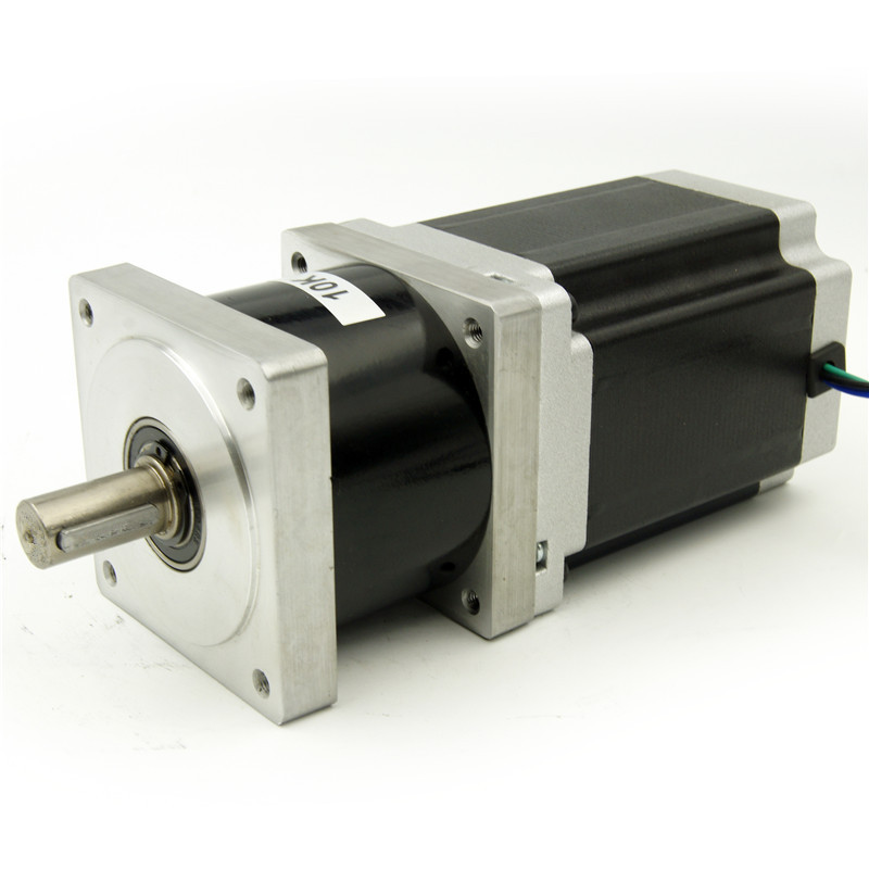 NEMA34 Reducer ratio 4:1/5:1/10:1/16:1/20:1/25:1/40:1/50:1/100:1 Planetary Gearbox Stepper Motor 118mm motor length 4.2A 4wires 1 1 9l