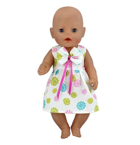 New Fashion dress Wear fit 43cm Baby Born zapf, Children best Birthday Gift(only sell clothes) baby born doll clothes for 43cm zapf doll accessories japan fashion print dress outfit children birthday gift 055