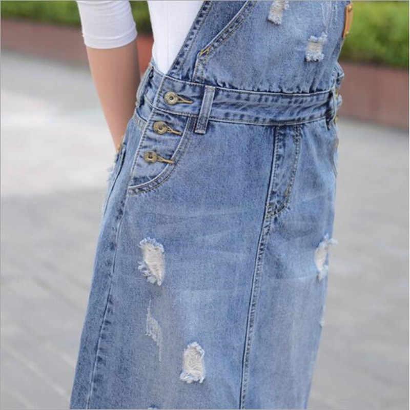 Летние женские без рукавов модные джинсовые однотонные Комбинезоны Платье с карманами однобортный джинсы повседневные платья для женщин QV392