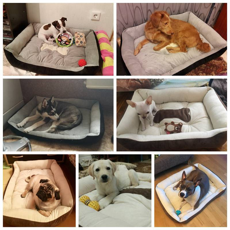 aa3f57128e7 Winter Warm Pet Bed For Dog Sofa Mats Pet Kennel Products Small Medium  Large Dog Beds Winter Sofa Plush Cat Mats Soft