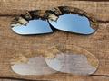 Серебристый хром & Crystal Clear 2 Пар Замена Линзы Для Монстр Собак Солнцезащитные Очки Рама 100% UVA и UVB Защиты