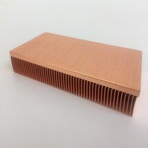 Image 3 - المصنع مباشرة توريد 100x50x15 مللي متر النحاس النقي بالوعة الحرارة Cu1100 سكيفينج مشتت حراري بفواصل