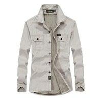 Nian Jeep Fleece Thick Mens Shirts Casual Shirts Winter Warm Long Sleeve Shirts Cotton Shirt Plus Size 4XL 6XL Camisetas Hombre