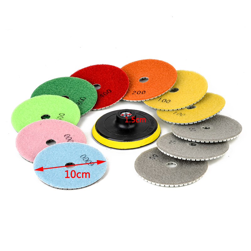 12Pcs 4inch Wet/Dry Diamond Polishing Pads For Granite Stone Concrete Marble Polishing Tools цена