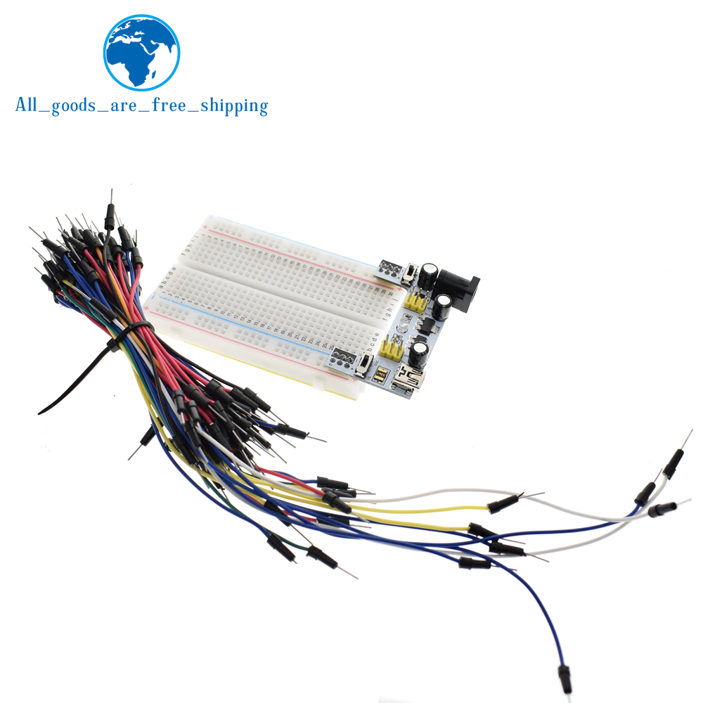 Breadboard 1660 830 400 Pin USB Power Adapter MB102 Jumper Cable  Raspberry Pi