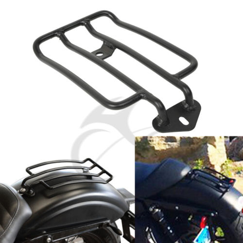 Motorcycle Black Solo Seat Luggage Support Shelf Rack For Harley XL Sportsters Iron 48 883 XL1200 2004-2018 2015 2016 2017 detachable luggage saddlebag cargo rack support shelf mounting screws for harley sportster xl883 xl1200 x48 2004 2016 solo seat