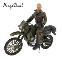 MagiDeal Plastic 1/6 Scale Assembly Modern Motorcycle Soldiers Model Military Action Figures People Man Children Boys Toy