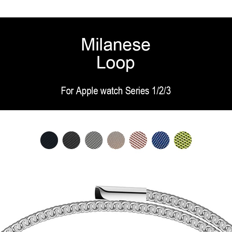 Bands For iwatch Apple watch Series 3 2 42mm 38mm Milanese Loop Band Link Bracelet Strap Magnetic adjustable buckle with adapter eastar milanese loop stainless steel watchband for apple watch series 3 2 1 double buckle 42 mm 38 mm strap for iwatch band