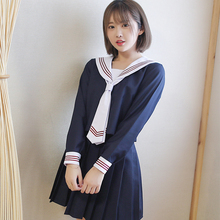 UPHYD 3pcs/set Japanese Sailor Uniform Hell Girl Fashion School Class Navy Sailor School Uniforms For Cosplay Girls Suit