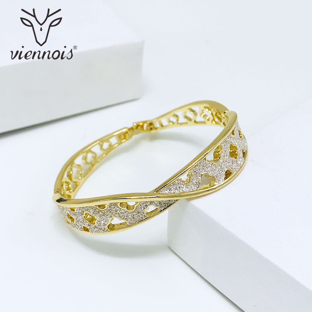 Viennois Bangles Bracelet Wedding-Jewelry Shining Rose-Gold/gold-Color Women Trendy