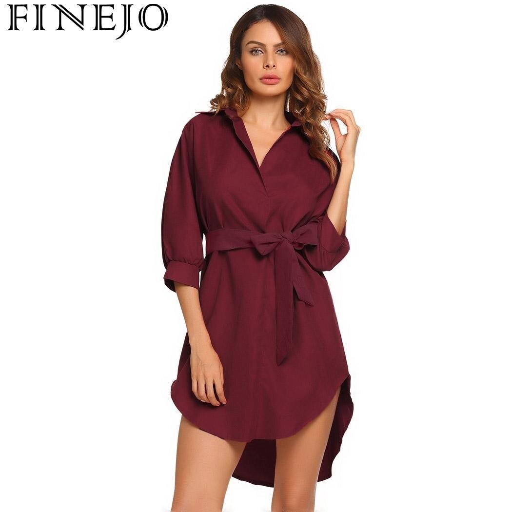 FINEJO Women Autumn Dress 2017 New Fashion Casual Dress