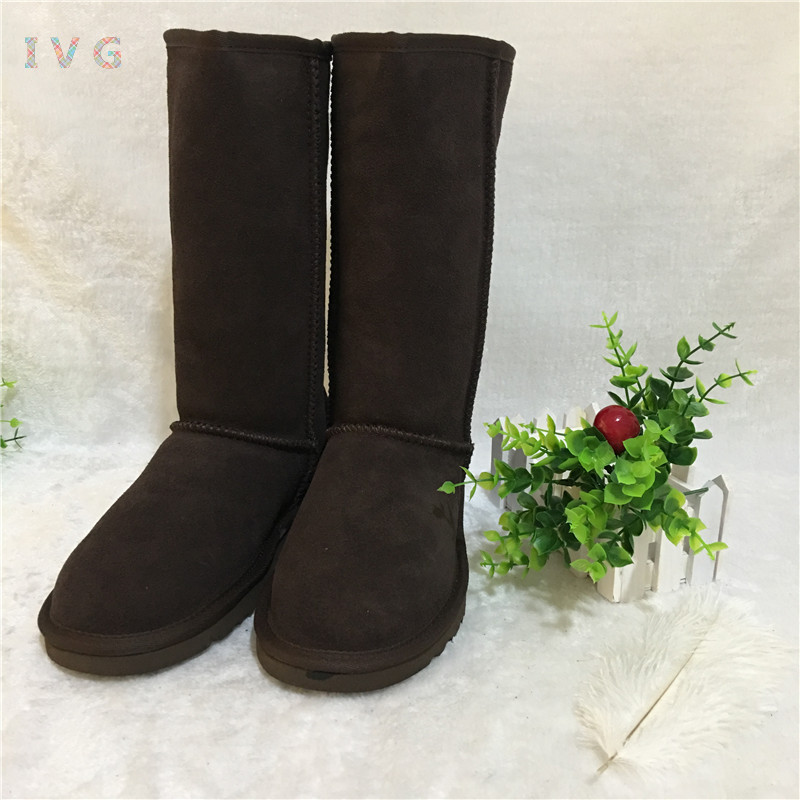 2017 Women's winter boots Australia Classic Tall Yellow Snow Boots Ugs Warm Leather Ankle Boots Brand IVG large size 4-13