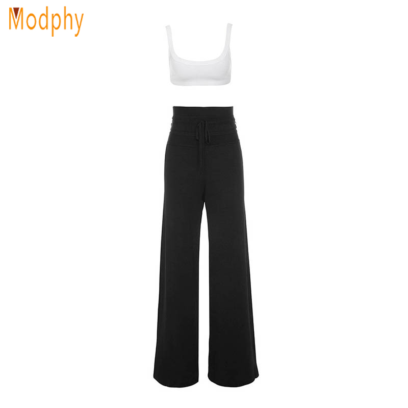 2018 sexy women 2 piece sets tanks pullover full length casual bandage strapless top and pants sets drop shipping HL335