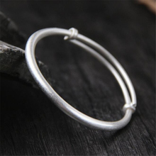 999 Sterling Silver 4mm 46.50mm Adjustable Wire Bracelet Simple DIY Cable Expandable Wiring Bangle Women Child Jewelry