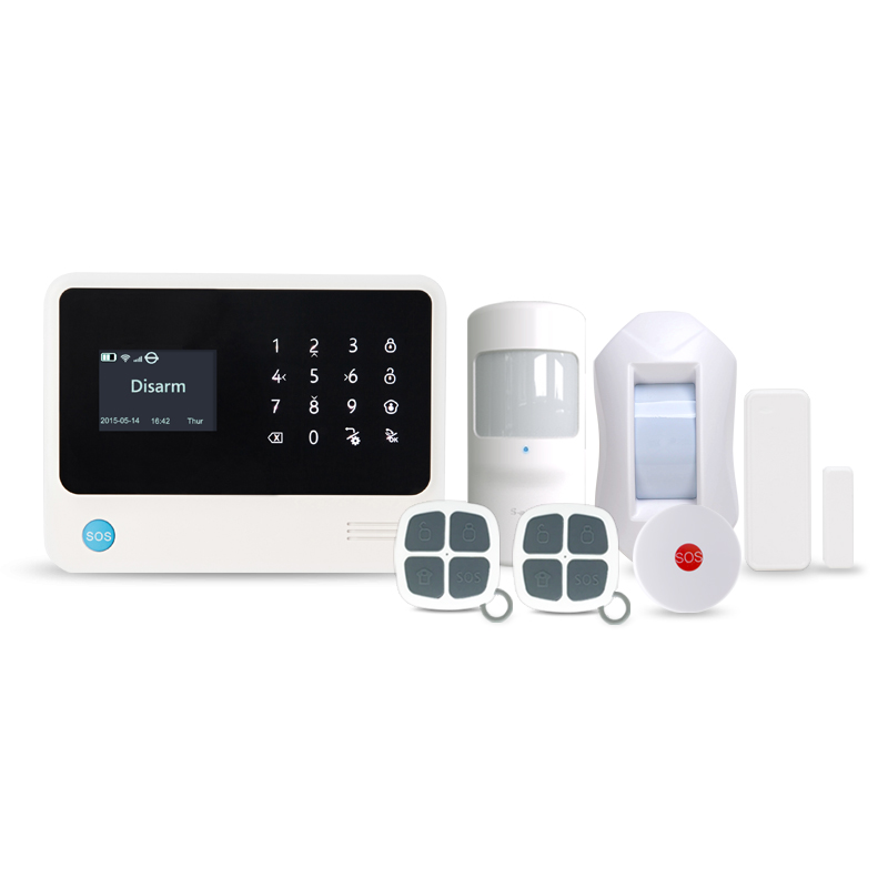 433MHz GSM WiFi alarm system home security WIFI GPRS SMS alarm panel support Contact ID/SIA protocol for Center monitor station king pigeon t4 direct factory gprs gsm emergency alarm telecare helper system sms for blood pressure monitor with android app