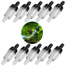 10 шт воздушный насос стоп вода, один способ аквариума обратный клапан, воды обратный клапан, аквариумные аксессуары пластик