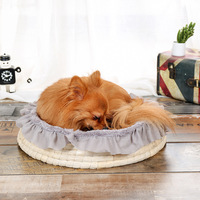 Pet Dog Bed Warming House Soft Fluff Nest Baskets Fall and Winter Warm Kennel For Cat Puppy