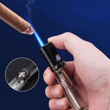New Torch Turbo Lighter Outdoor Cigar Pen Lighter Compact Jet Lighter Windproof 1300 C Butane Welding Soldering Tool No Gas