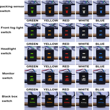 NEW GPS DRL Fog light Black box Monitor Parking sensor switch button blue purple white red for Honda FIT Jazz HRV ACCORD Odyssey new gps drl fog light headlight monitor parking sensor switch button blue yellow white red for mitsubishi lancer asx outlander
