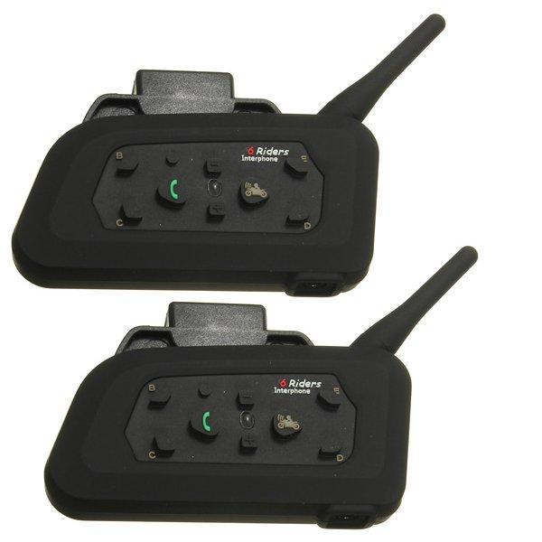 2pcs V6 600M Motorcycle Intercom Helmet Wirless Bluetooth Speaker Intercomunicador 850mAh 6 Riders IP65 MP3 GPS Promotion