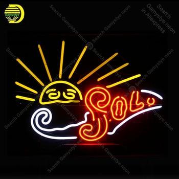 Sol sun Neon Signs Neon Lamp Glass Tube Neon Bulbs Sign Recreation Health room Beer Bar Sign Club Handcraft Indoor Sign 19x15