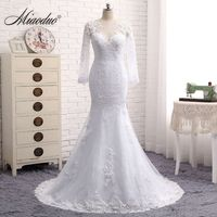 Miaoduo Wedding Dress 2017 Mermaid Wedding Dress Sexy Back Lace Wedding Dress Bridal Gown Robe De Mariage Vestido De Noiva