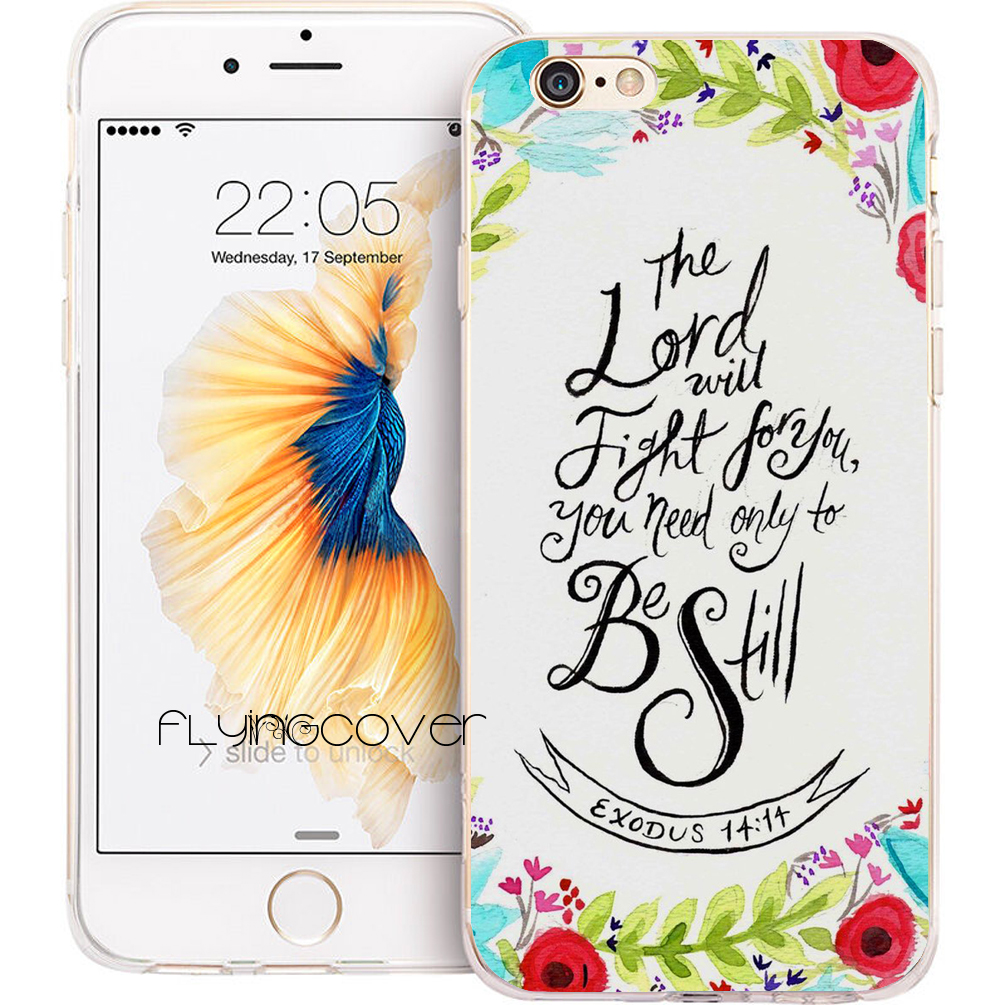 Coque Christian Bible Verse Clear Soft TPU Silicone Phone Cover for iPhone 7 7Plus Case for iPhone 5S 5 SE 6 6S 6Plus 4S 4 Cases
