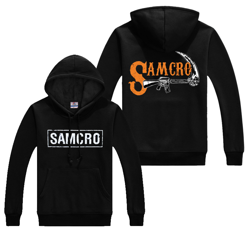 Hot Sale Winter Thick hoodies TV Sons of Anarchy Sweatshirt Warm Streetwear Hoody Men's Hoodie Halloween Gift