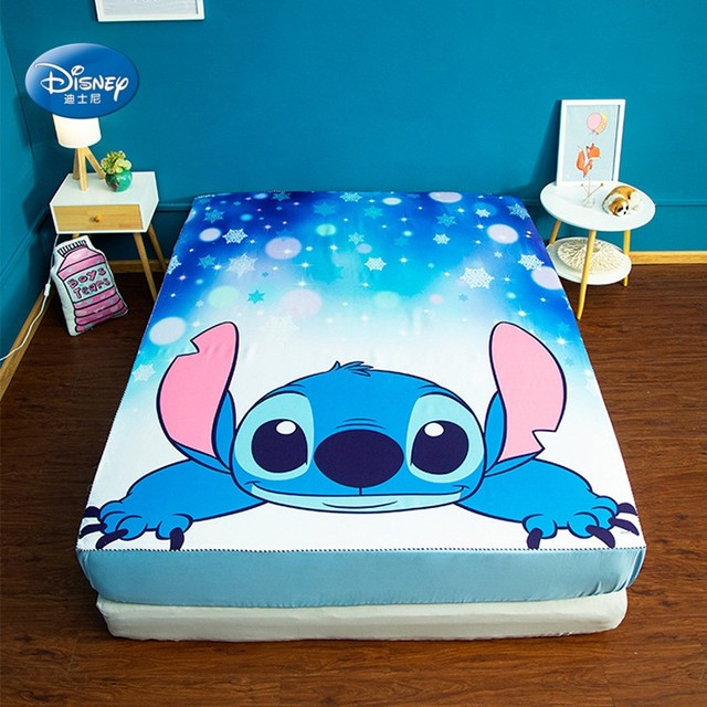 Disney Cartoon Lilo and Stitch Bed Cover Mattress Cover