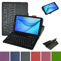 Removable Bluetooth Keyboard Leather Case Cover For Samsung Galaxy Tab E 8.0 T377 Tablet