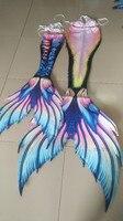 Custom Made Kids Women HD printing Mermaid Tail with Monofin Mermaid Bikini Swimsuit Costume Swimsuit