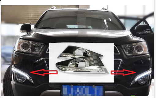 LED DRL Daytime Running Light Lamp Cover for 2011 Chevrolet Chevy Captiva in Chromium Styling from Automobiles Motorcycles