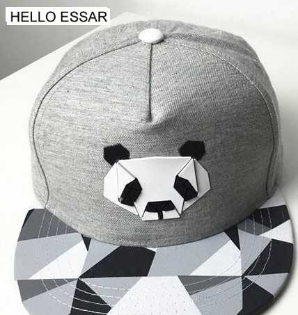 La Panda de algodón sombrero gorra de béisbol sombrero de ala plana tapas  visera viajes hip 62028eed105
