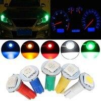 30 cái/lốc T5 5050 SMD LED Ôtô Xe Máy Giải Phóng Mặt Bằng Đèn Instrument Bảng Điều Chỉnh Bảng Điều Khiển Ánh Sáng Bulb 12 V Blue White Red màu xanh lá cây Vàng