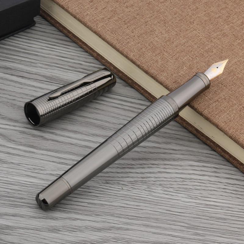 OFFICE Iridium Authentic Fashion Portable Gun Grey Classic Style GIFT Fountain Pen