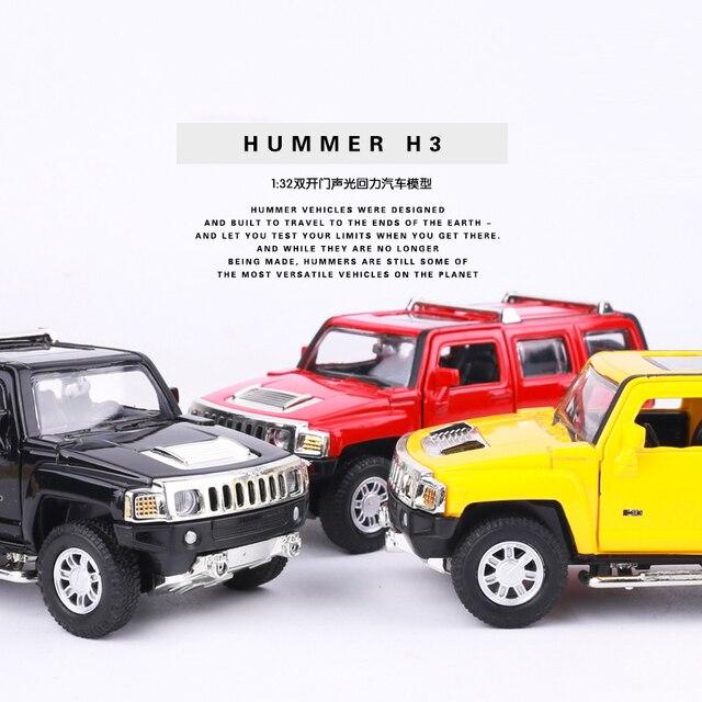 1 32 Metal Car Models Kids Toys Hummer H3 Suv Car Children Like The