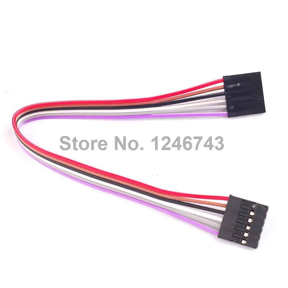 5 шт./лот 6Pin F/F соединительный провод 200 мм Женский Dupont кабель для Arduino