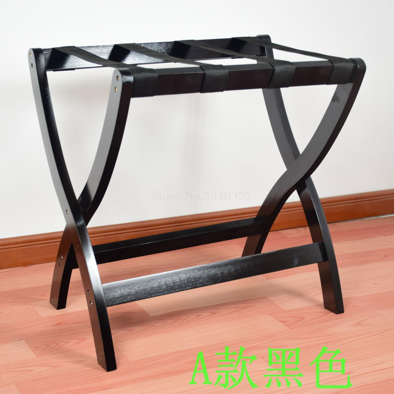 Гостиничная мебель для отеля багажные стеллажи прикроватная тумбочка для спальни складной домашний пол вешалка для одежды дерево - Цвет: VIP 1