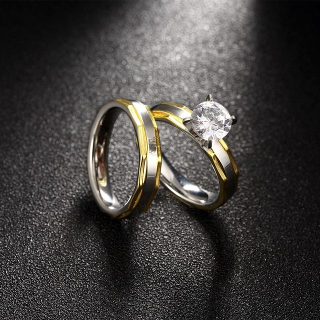 line Shop Free Shipping Couple Rings Korean Men and Women